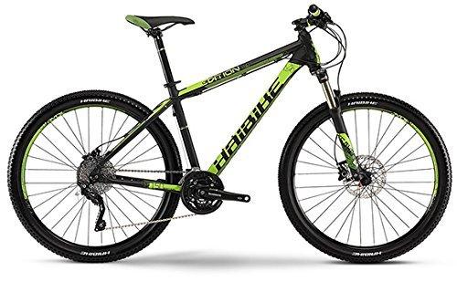 Haibike Edition 7 50 - 68,58 cm - Mountain Bike - 30-marce Shimano XT mix - Colore nero/verde opaco