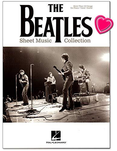 The Beatles Sheet Music Collection - Songbook für Klavier, Gesang, Gitarre - mehr als 100 Songs - Notenbuch mit bunter herzförmiger Notenklammer - Verlag Hal Leonard - HL00236171 - 9781495096037