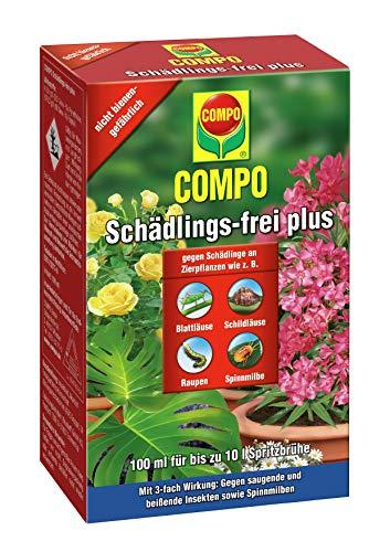 COMPO Schädlings-frei plus, Bekämpfung von Schädlingen an Zierpflanzen, 100 ml