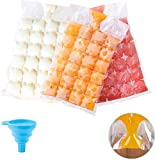 Bolsas desechables para cubitos de hielo, 30 bolsas de congelador, 720 cubitos de hielo, bandejas de molde de cubo de hielo de grado alimentario, autosellado más rápido
