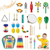 Obuby Kids Musical Instruments Sets 17 Types 23 pcs Percussion Instruments for Toddler Preschool Educational...
