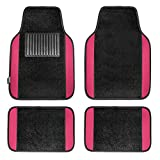 FH Group - FH-F11300 F14407PINK Premium Full Set Carpet Floor Mat (Sedan and SUV with Driver Heel Pad Pink)