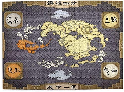 yeeatz 500 Teile Puzzles für Erwachsene Avatar The Last Airbender Map Puzzle, Harte Schwierigkeiten Puzzle Set