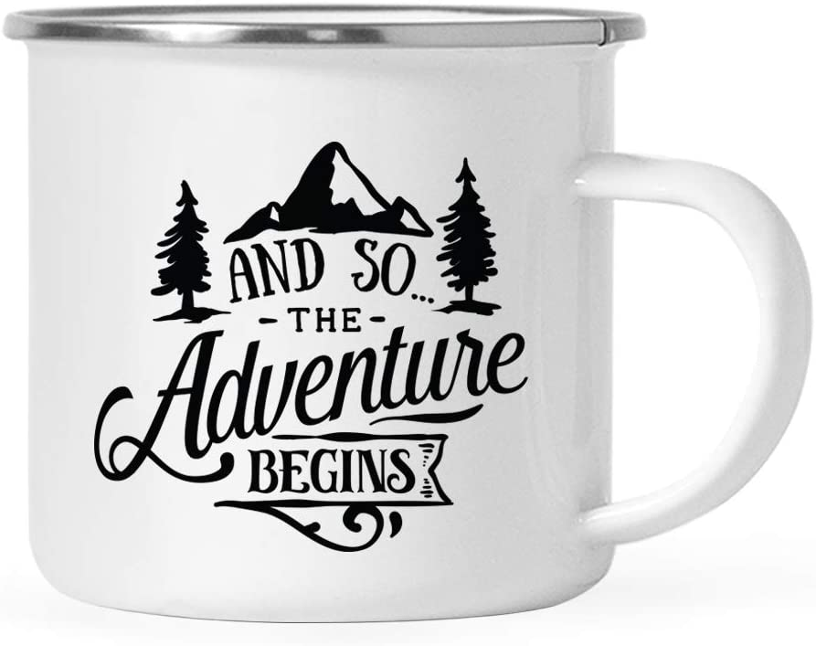 Andaz Press 11oz. Stainless Tampa Mall Steel Camping Complete Free Shipping And S Coffee Mug Gift