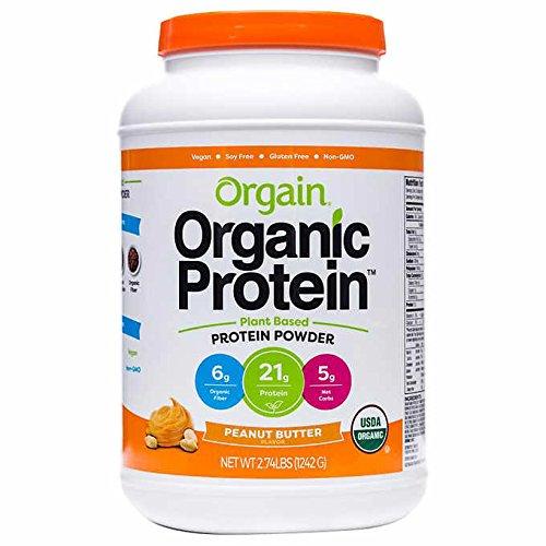 Orgain Organic Plant Based Protein Powder, Peanut Butter, Vegan,...