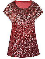 Pink/Red/Burgundy Loose Bat Sleeve Party Tunic Tops