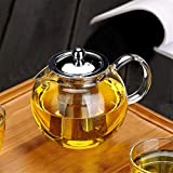 Small Glass Teapot with Removable Infuser, OBOR Stovetop Safe Kettle, Blooming and Loose Leaf Tea...
