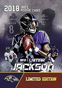 2018 LAMAR JACKSON Rookie Gems Rookie Basketball Card - Custom Limited Edition Rookie Card. Baltimore Ravens MVP quarterback.