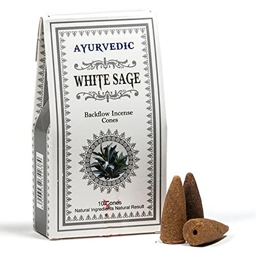 Yogabox - Conos de incienso ayurvédico ReFlux White Sage
