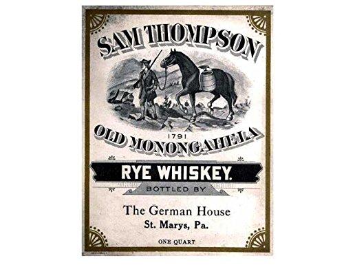 Sam thompson oude monongahela rogge whisky retro shabby chic vintage stijl acryl sleutelhanger sleutelhanger en flesopener