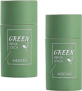 Soolike 2PC TIK Tok Máscara De Té Verde Palito De Té Verde,Green Mask Stick Meidian,Facial Mask Stick,Green Mask,Green Tea...