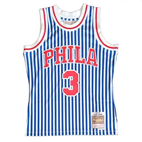 Mitchell & Ness NBA Striped Swingman Filadelphia 76ers Iverson Blu L