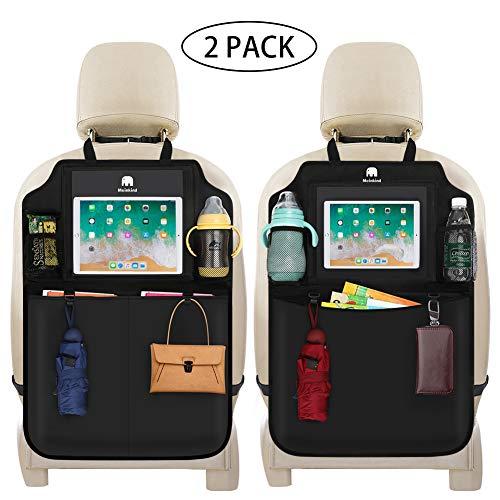 Meinkind Protezione Sedile Auto Bambini 2 pcs Organizzatore Sedile Posteriore Auto Proteggi Impermeabile con Multi-Tasca, Organizer Bambino per Sedile Auto