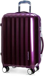 HPXCAZ Luggage European and American Style Luggage Foldable Trolley Case One-Way Wheel 22 Inch Lock Box Portable Color Purple White Size 53 * 41 * 24cm (Color : Purple)