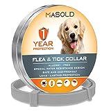 MASOLD Collare antipulci e zecche per Cani, 12 Mesi, per Controllo delle zecche e delle pulci per...