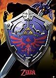 The Legend of Zelda Hylian Shield - Póster metálico (50 x 70 cm, 70 x 50 x 0,02 cm), diseño de escudo