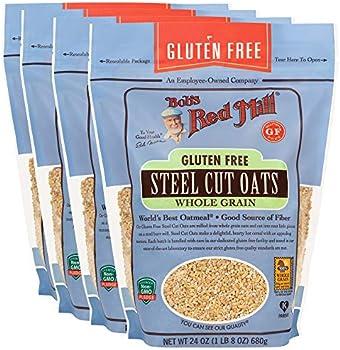 4-Pack Bob's Red Mill Gluten Free Steel Cut Oats, 24 Ounce