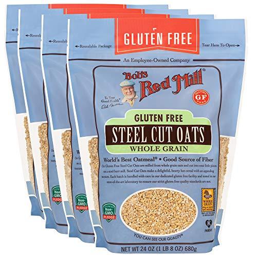 Bob#039s Red Mill Gluten Free Steel Cut Oats 24 Ounce Pack of 4