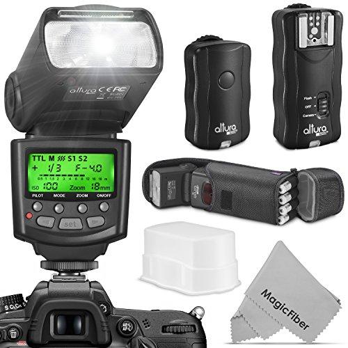 Altura Photo Professional Flash Kit for Nikon DSLR - Includes: I-TTL Flash (AP-N1001), Wireless Flash Trigger Set and Accessories