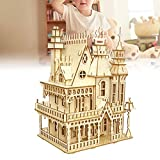 Wandisy Regalo De Abril Juguetes educativos 3D Puzzle Gift para niños, 3D Villa de Madera Puzzle Toy Artesanías educativas Modelo de ensamblaje de Rompecabezas
