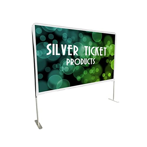 """STE-169100 Silver Ticket Entry Level Indoor/Outdoor Portable Backyard Movie Projector Screen White Cloth Material (STE 16:9, 100"""")"""