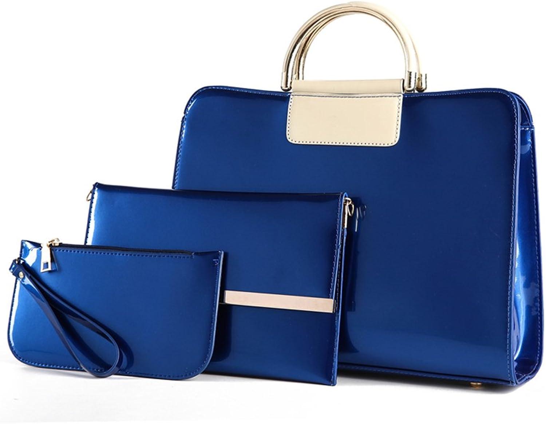 Amarte Women's 3Pcs Waterproof Leather Tote Bag Top Handle Handbag Purse Vintage Shoulder Bag Set