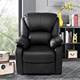 Schwarz Fernsehsessel Relaxsessel, Zuhause Sofa mit Relaxfunktion Relaxsessel