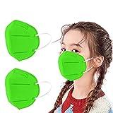 SETSAIL 50 Stück Kinder Mundschutz 𝙘𝙚, 5-Lagen-Filter mit Ohrenschützern, atmungsaktiver Komfort staubdicht, Optimal für Prävention und Schutz, Multilayer_Fịltrazịone> 96% (J)
