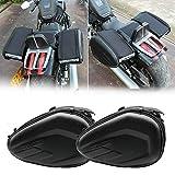 2PC Heavy-duty Waterproof Motorcycle Saddlebags, Universal Motorcycle Pannier Bags Luggage Saddle Bag Waterproof 58L Multi-Use