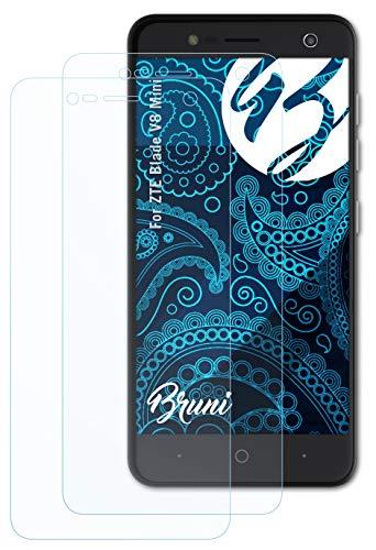 Bruni Schutzfolie kompatibel mit ZTE Blade V8 Mini Folie, glasklare Bildschirmschutzfolie (2X)