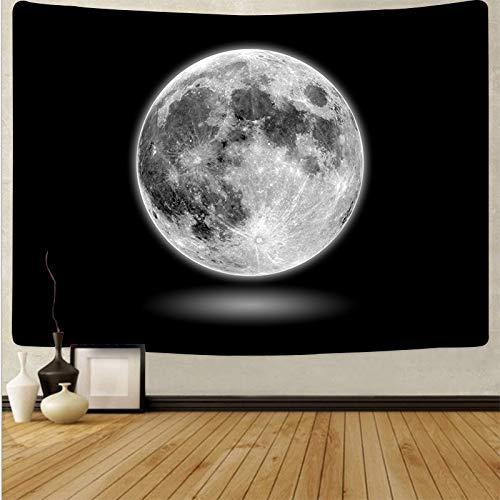 KHKJ Tapiz de Luna Colgante de Pared Paisaje Cielo Azul Tapices psicodélicos Fondo Tela de Pared Alfombra Alfombra Decoración de Cama A2 200x180cm