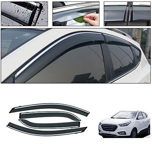 saitake Windabweiser Für Hyundai IX35 2009-2016 4PCS Autofenster Visier Sonne Regen Rauchabzug Schatten Klebeband Außenvisiere