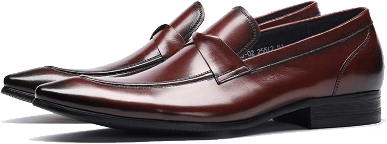 Formellt klädmode för män, läderkläder, loafer -skor, kontorsjobb, glid -on -on -on -casual High -end Pappa skor  billig