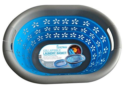 Laundry Master Wasmand, opvouwbaar, blauw/grijs