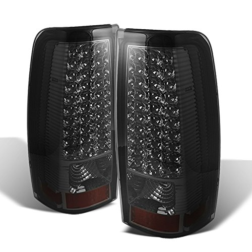 For 1999-2002 Chevy Silverado 09-03 GMC Sierra Pickup Truck Smoke G2 LED Tail Lights Brake Lamps Replacement