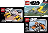 LEGO Star Wars 20th Anniversary Edition Sets (3) Snowspeeder 30384 PODRACER 30461 Naboo Starfighter 30383 Building Set LEGO Bundle Pack (3) Edition Building Set