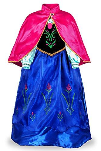 JerrisApparel Principessa Partito Costume Cosplay Vestire (130cm, Blu)