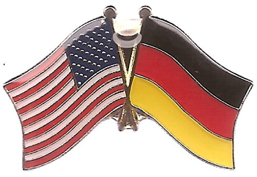 AES Wholesale Pack of 3 USA American & German Germany Country Flag Bike Hat Cap lapel Pin