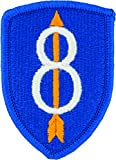 8th Infantry Division Patch (Full Color (Dress))