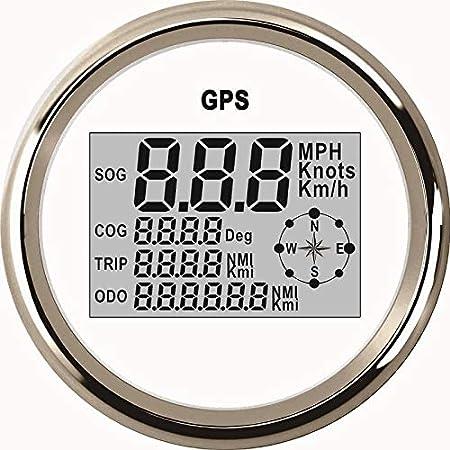 Eling Wasserdichte Digitale Gps Tachometer Kilometerzähler Kurs Für Auto Marine Lkw Mit Hintergrundbeleuchtung 3 3 8 Inch 85mm Auto