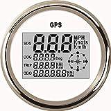 ELING Corso di contachilometri contachilometri digitale GPS impermeabile contachilometri per autocarri marini auto con retroilluminazione 3-3/8 pollici (85mm)