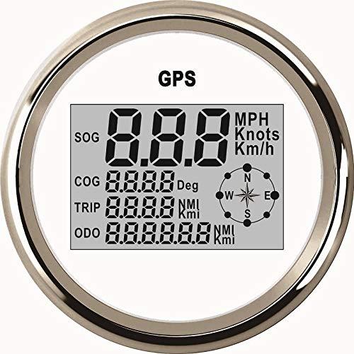 ELING Wasserdichte Digitale GPS Tachometer Kilometerzähler Kurs Für Auto Marine Lkw Mit Hintergrundbeleuchtung 3-3/8 inch (85mm)