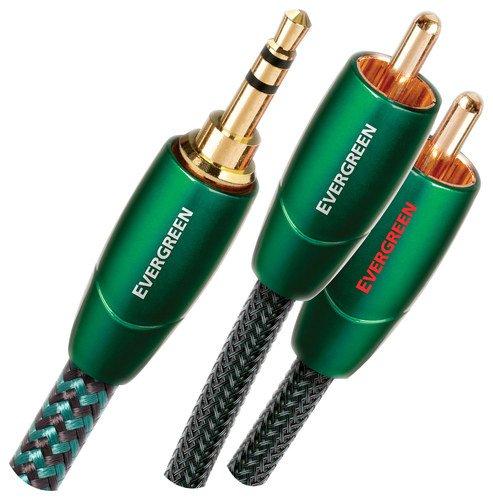 AudioQuest - Cavo stereo di connessione Evergreen con jack 3,5mm e 2 uscite RCA (J2P), 1,5 m