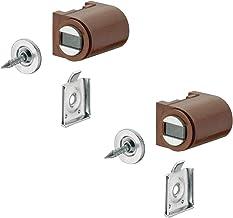 Gedotec Magneetsluiting bruin met aanschroefplaat magnetische snapper deur om te schroeven - H2059 | deurmagneet kunststof...