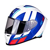 Casco de moto Scorpion EXO-R1 AIR CORPUS White-Blue-Red, Blanco/Azul/Rojo, M