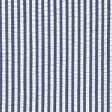 Robert Kaufman Baumwoll-Seersucker-Stoff, Marineblau,
