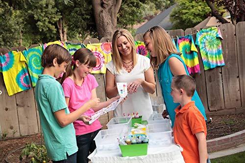 Y&J Tie Dye Kit ,30 Stück Farben Textilfarbe für Kinder,Textilfarbe waschmaschinenfest,Non-Toxic Mit 160 Stück Gummi Band 30 Stück Handschuh 2 Stück Tischdecke, 2 Stück Trichter,2 Stück Schürze
