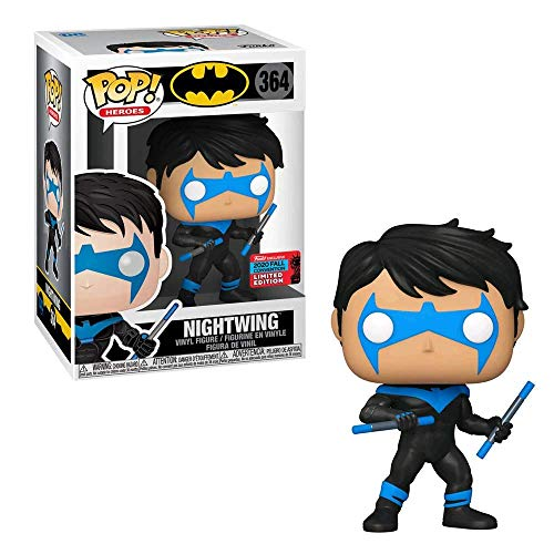 dc comics Funko – 51669 Hero: DC Heroes – Nightwing – Vinyl Figur, 9 cm (UK Exclusive)
