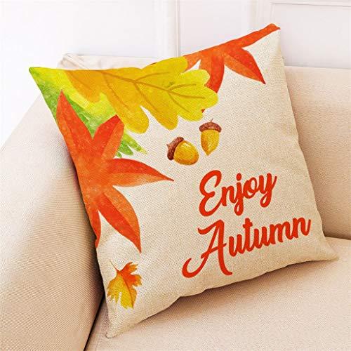 Watopi Home Decor Cushion Cover Fall Autumn Leaves Pillowcase Throw Pillow Covers