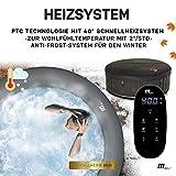 Miweba MSpa aufblasbarer Whirlpool 2021 Starry C-ST061 Outdoor - inkl. LED Band - 138 Düsen - 204 x 70 cm - Tüv GS geprüft - 930 Liter - Pool aufblasbar (Comfort Starry 6 Personen) - 5